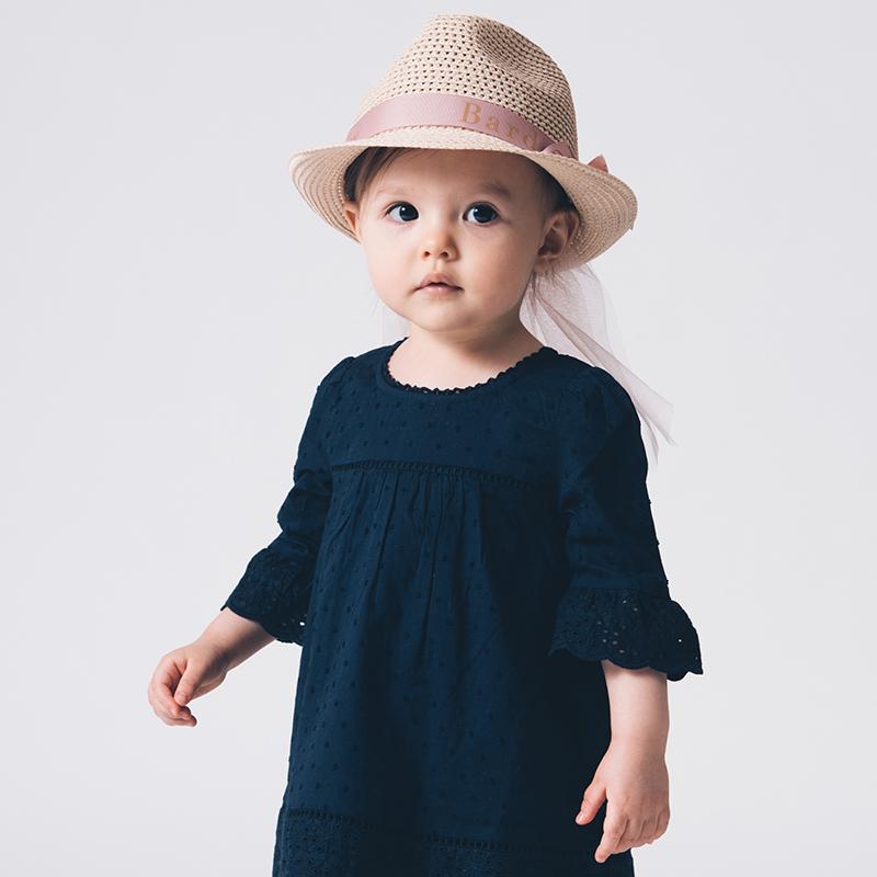 niva(ニヴァ) Bardow(バルドー) チュール付き麦わら帽子 Straw Hat with Tulle  日差しよけ 夏アイテム オシャレハット