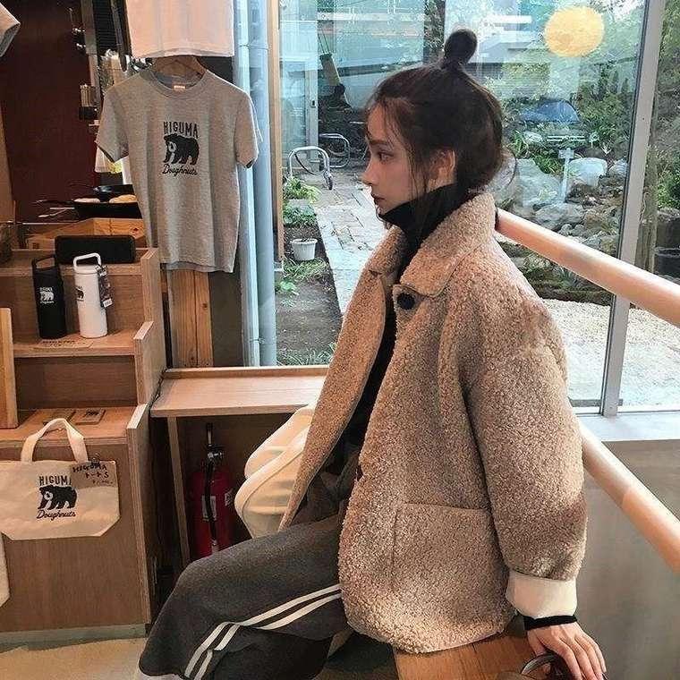 【送料無料】マストバイ アイテム ♡ ボア もこもこ 大人可愛い カジュアル 襟付き ジャケット コート アウター