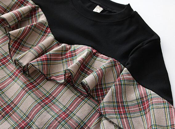 【在庫限り】チェックフレアシャツ
