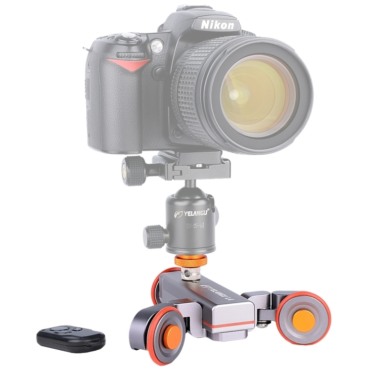 YELANGU社・L4・DSLR, GoPro, スマートフォン用電動ドリー