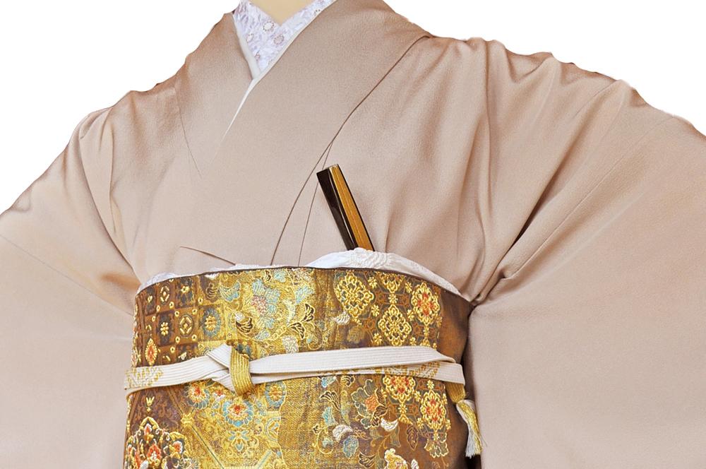 レンタル色留袖■高級加工■桃色地 流れる短冊に豪華な金彩鶴や松の柄irotome2【往復送料無料】 - 画像4