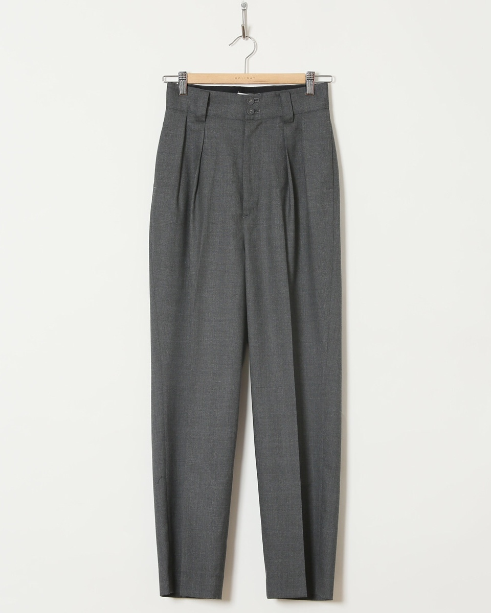 【HOLIDAY】WOOL TUCK PANTS
