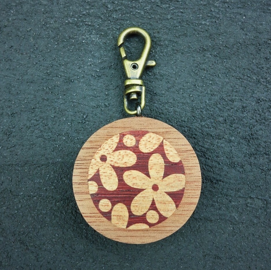 wooden inlaid charm IH-016-WT