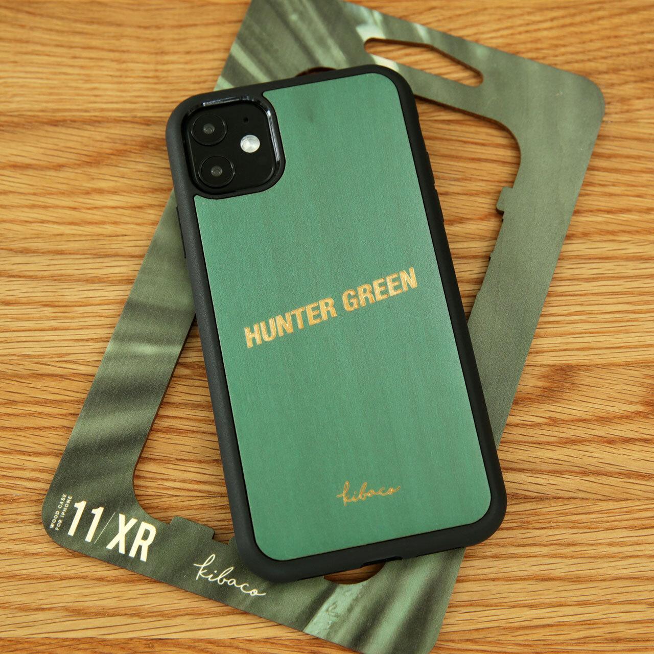 """名入れ ウッドiPhoneケース """"HUNTER GREEN"""""""