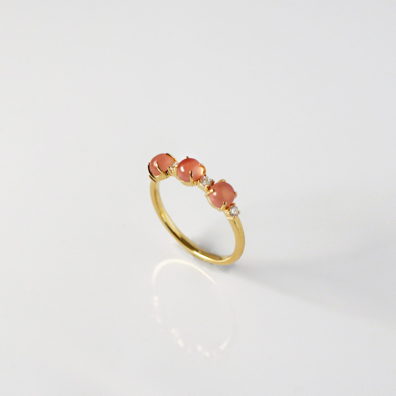 Rosy Drop / Ring (with Diamond)