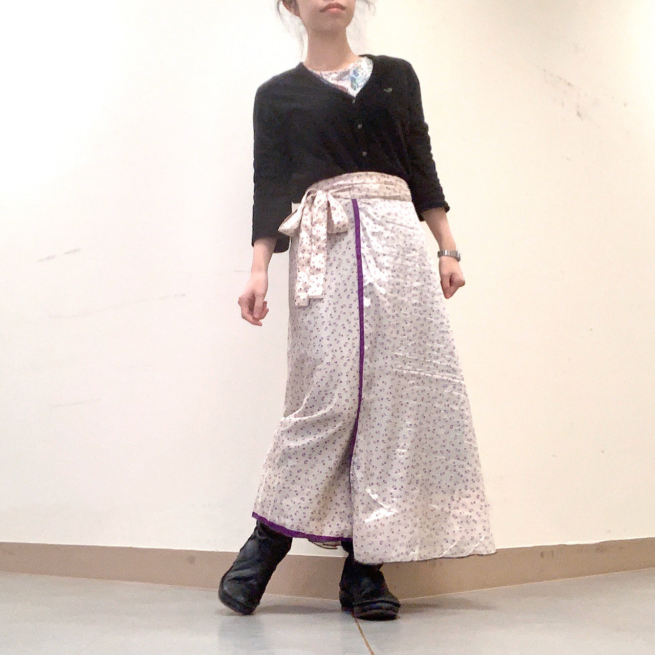 dsl-230 シルクサリー 巻きスカート ロング