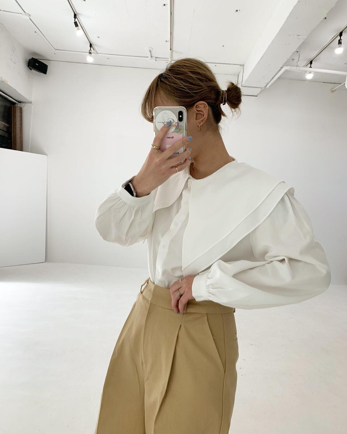 【asyu】charming collar blouse