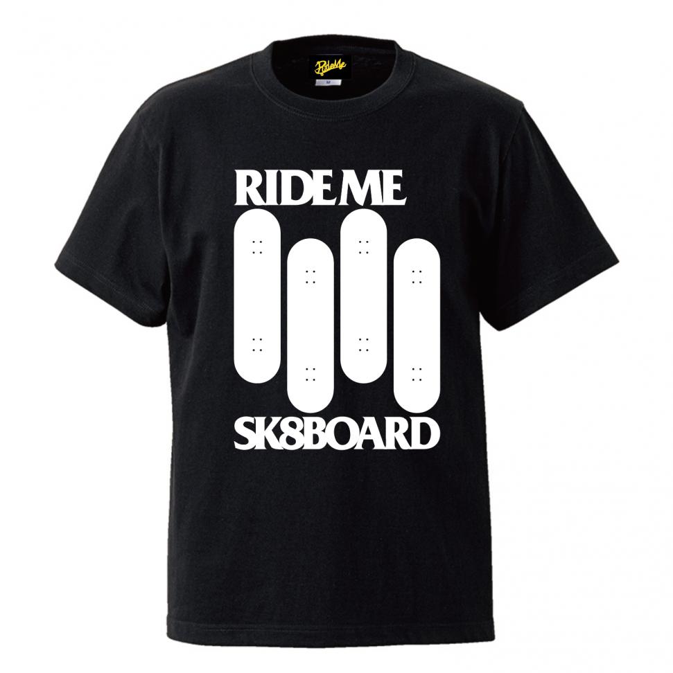 【RideMe | ライドミー】 BLACK FLAG TEE BLACK