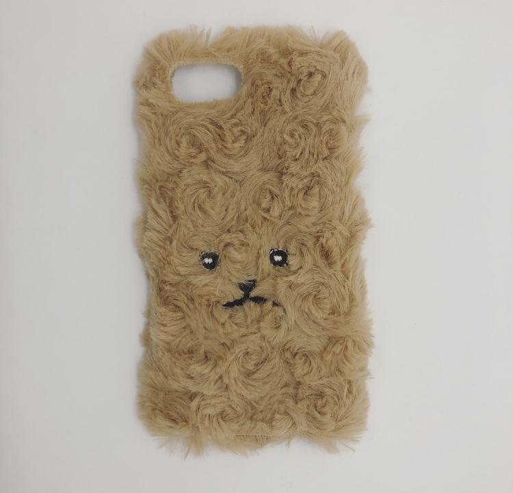 【iPhone6/7/8専用】巻き毛トイプードルiPhoneケース【ベージュ】