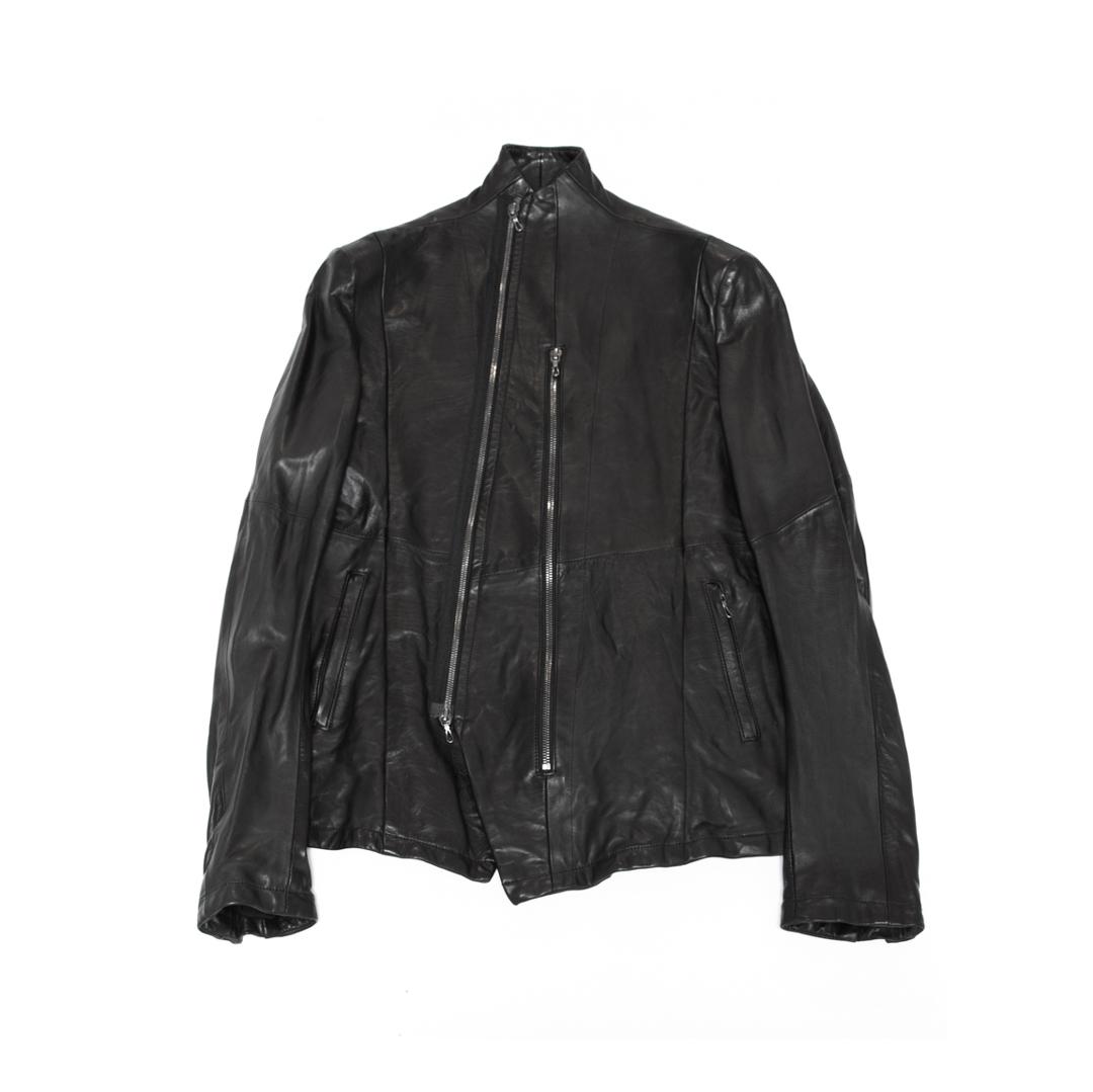 557BLM9-BLACK / スラッシングハイネックジャケット