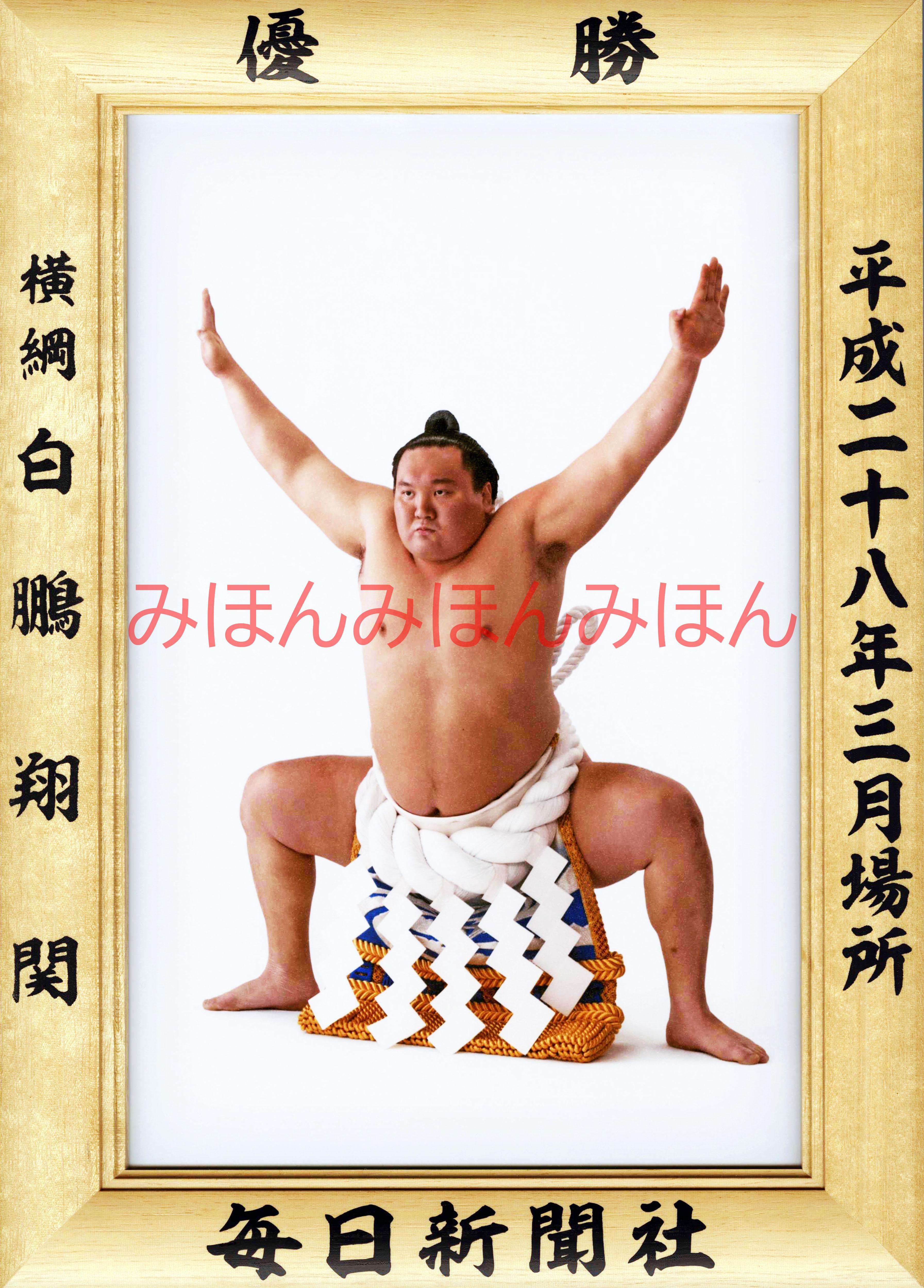 平成28年3月場所優勝 横綱 白鵬翔関(36回目の優勝)