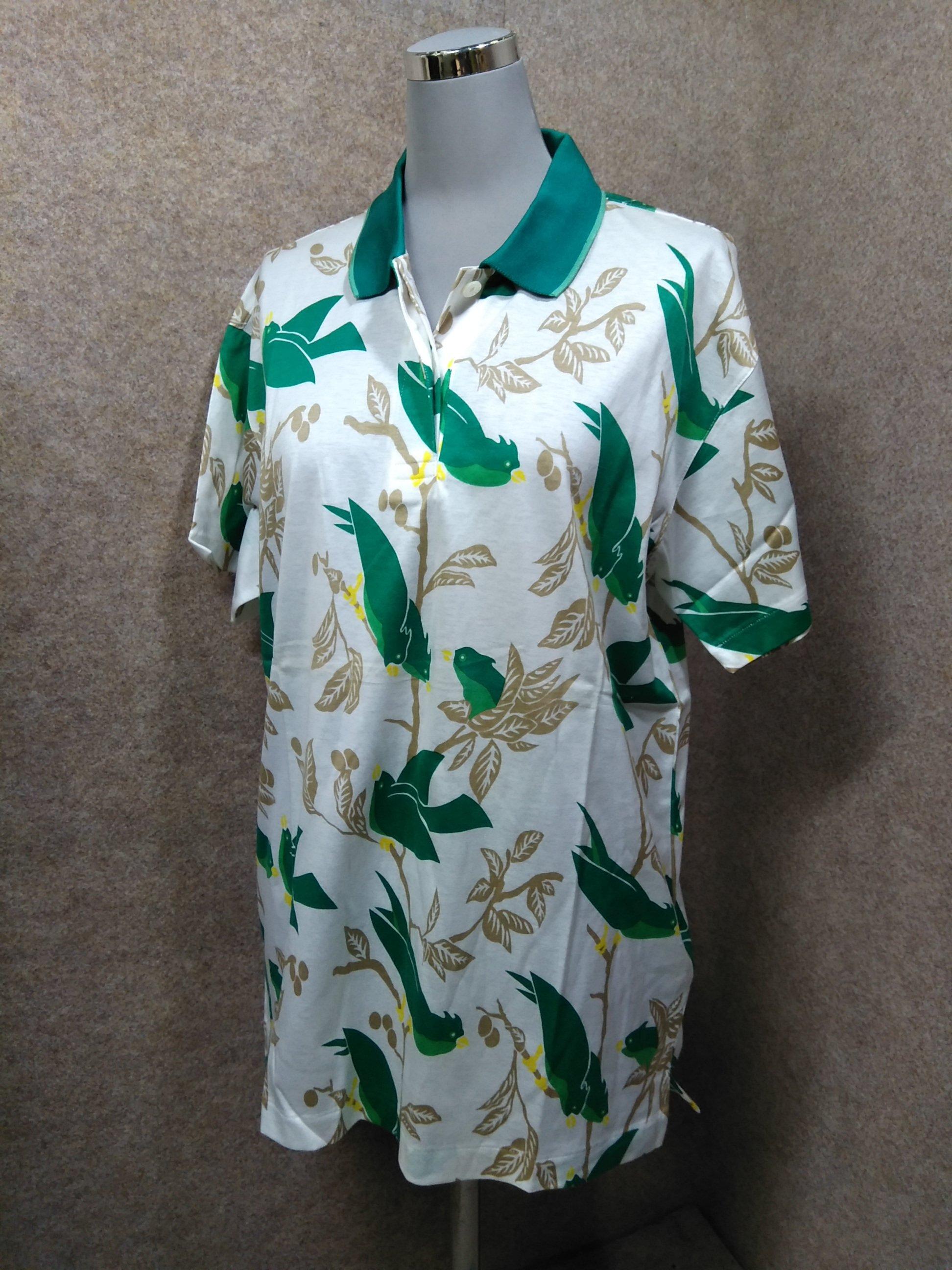 カンサイスポーツプロジェクト レディースポロシャツ L 緑×白系 y1342j