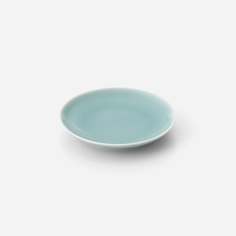 青磁 平皿 (約12.5センチ)