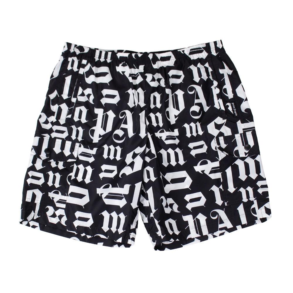 PALM ANGELS Broken Monogram Swim Shorts