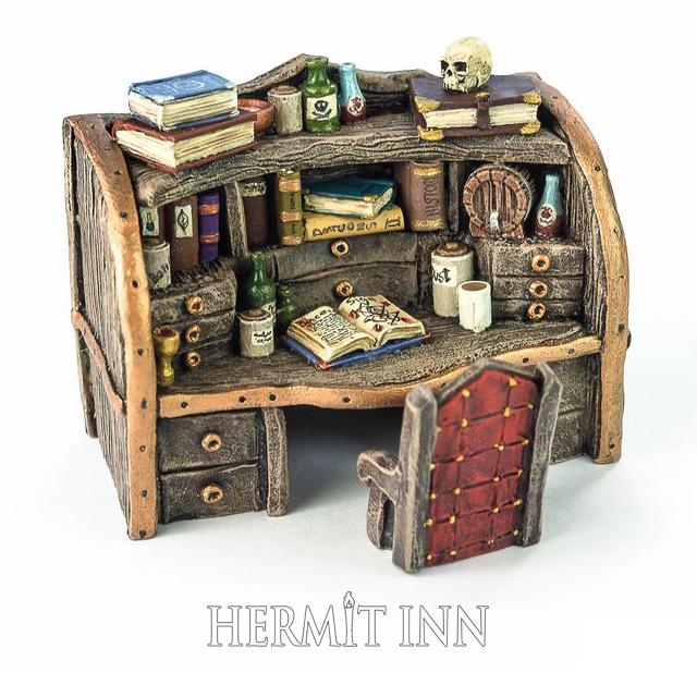 魔術師の書斎机と椅子 - 画像1