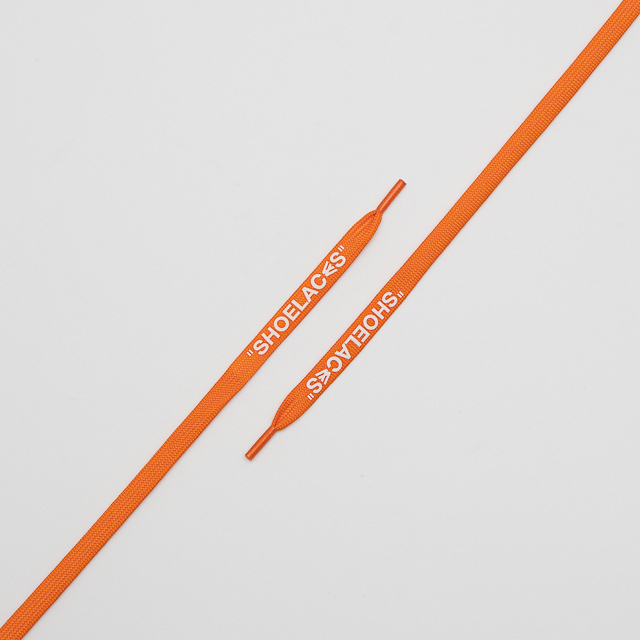 "FLAT LACES SOLID ""SHOELACES/NEON ORANGE"""