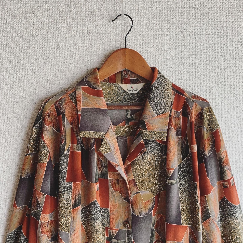 vintage open collar design tops