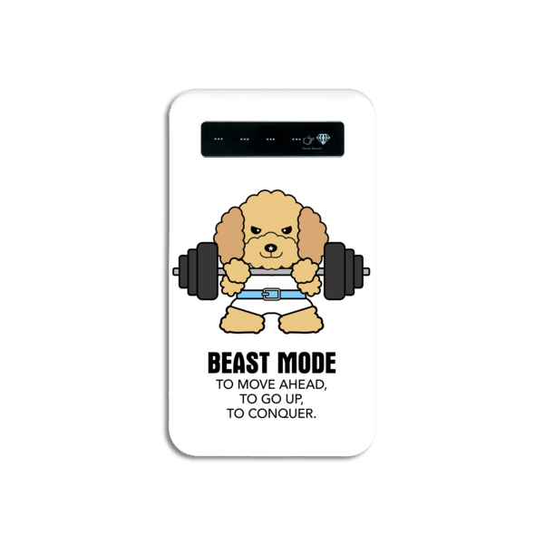 【BEASTMODE】携帯充電器 バーベル トイプードル