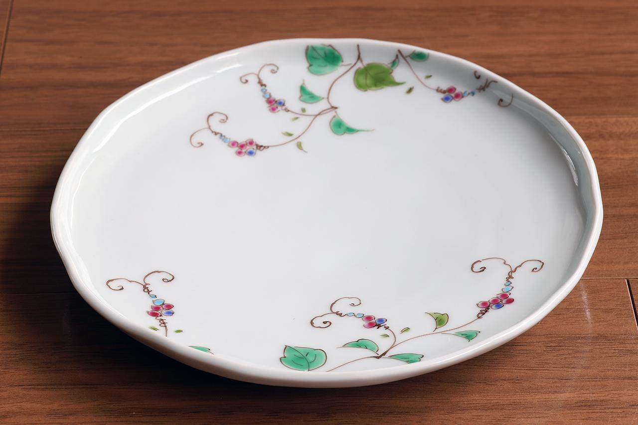 藍水 野ぶどう 6寸皿 直径約18cmパン皿に使える大きさの器 うつわ藍水(波佐見焼)