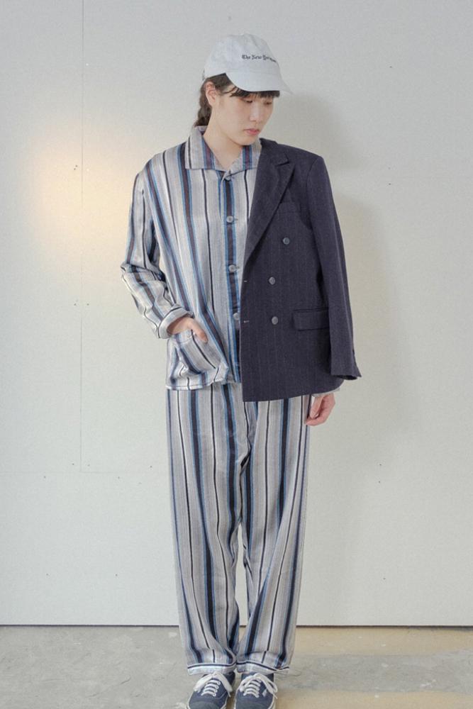 90's multi-stripe pajama setup