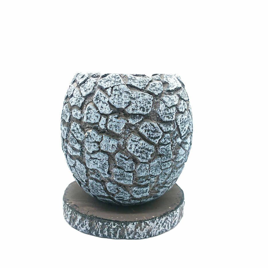 raraiuvant 陶器鉢 ブルー&シルバー Sサイズ