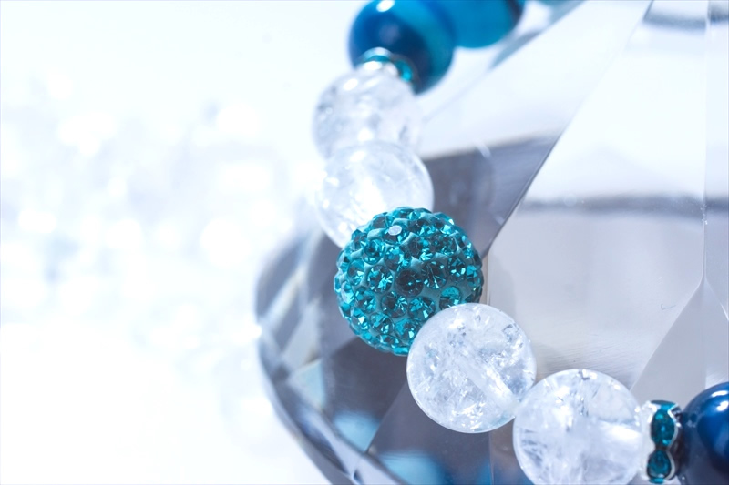 Blue onyx【パワーストーンブレスレット 】 - 画像2