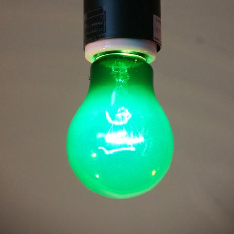 E26 40W 透明カラーランプ グリーン ※電球のみ