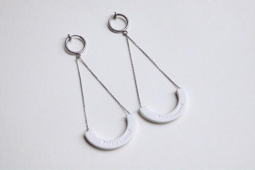 ilocami S-HOOP PIERCE/EARRING【WHITE】