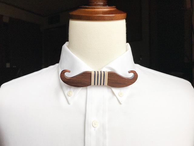 木製 蝶ネクタイ #Cafe Mustache - 画像3