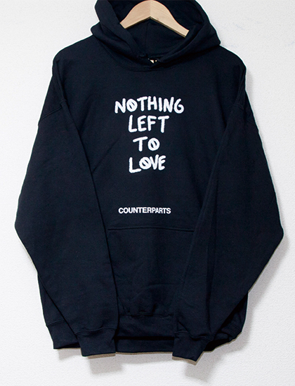 ※Restock【COUNTERPARTS】Nothing Left To Love Hoodie (Black)