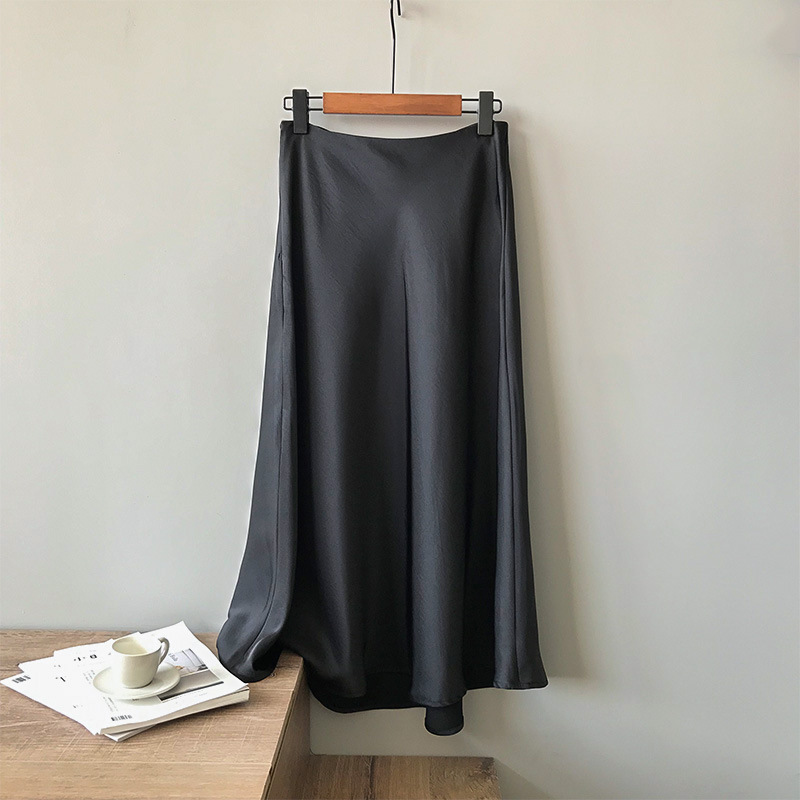 サテンフレアスカート 【satin flare skirt】