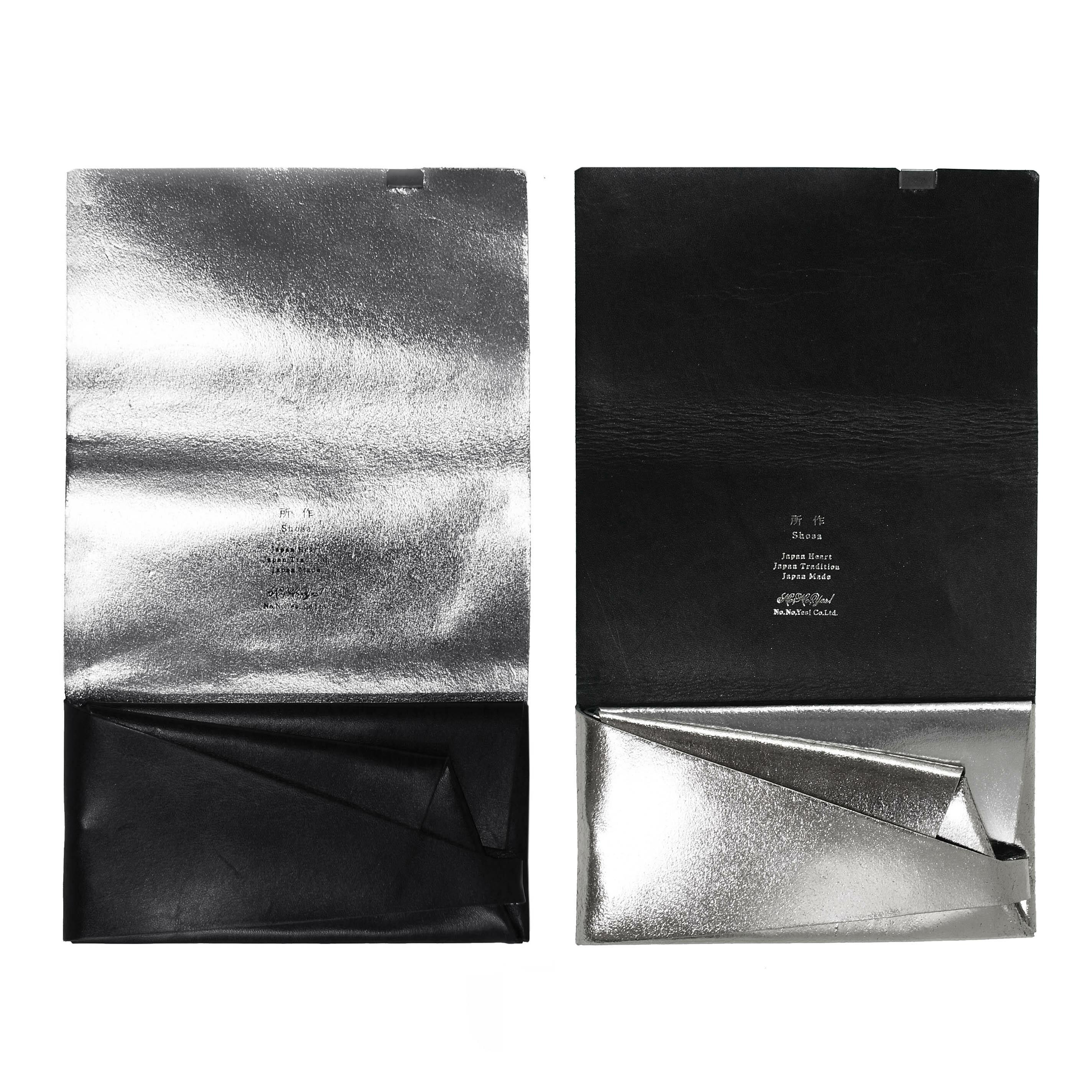 ボレロ -ロングウォレット- ブラック×シルバー&シルバー×ブラック
