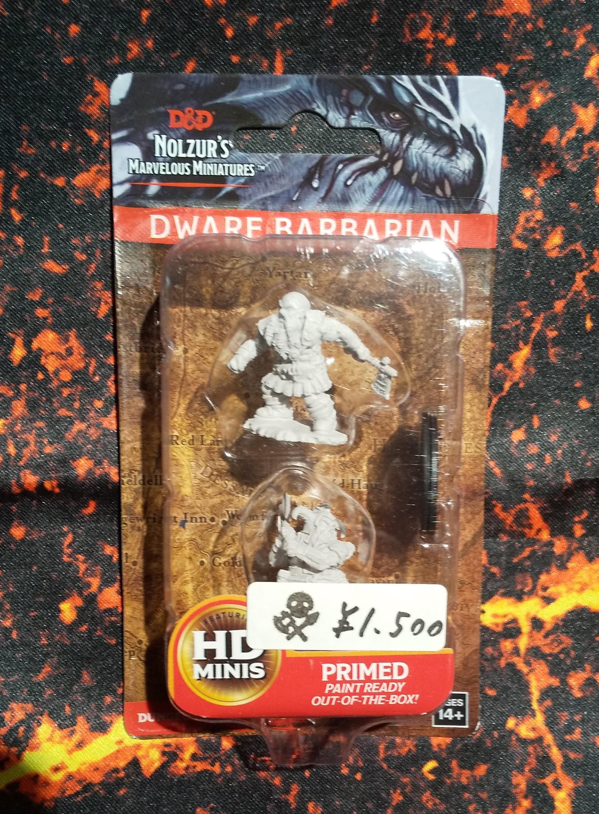 Male Dwarf Barbarian(D&Dオフィシャルミニチュア「Nolzur's Marvelous Unpainted Miniatures」シリーズ)