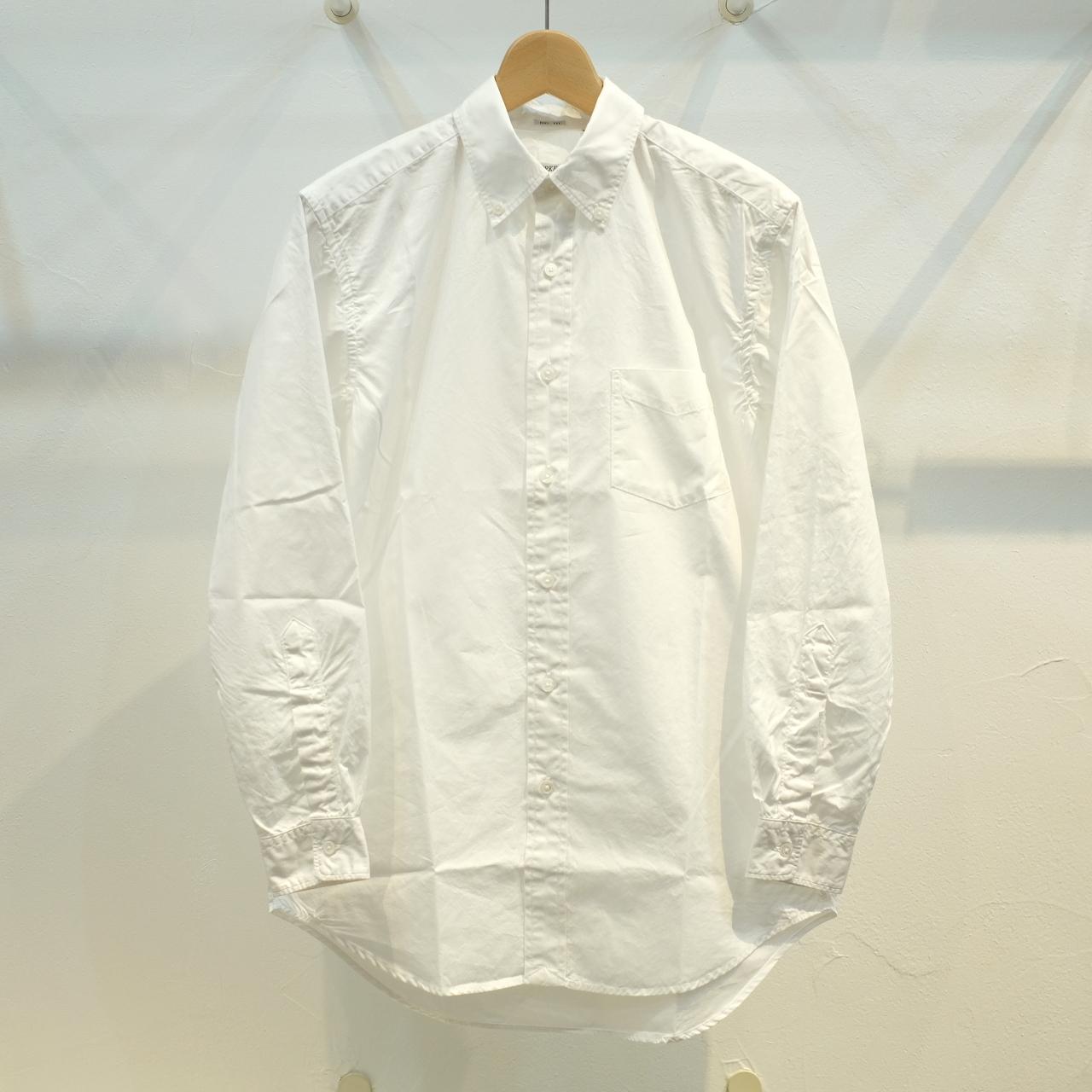 Workers(ワーカーズ) Bigボタンダウンシャツ ホワイトブロード
