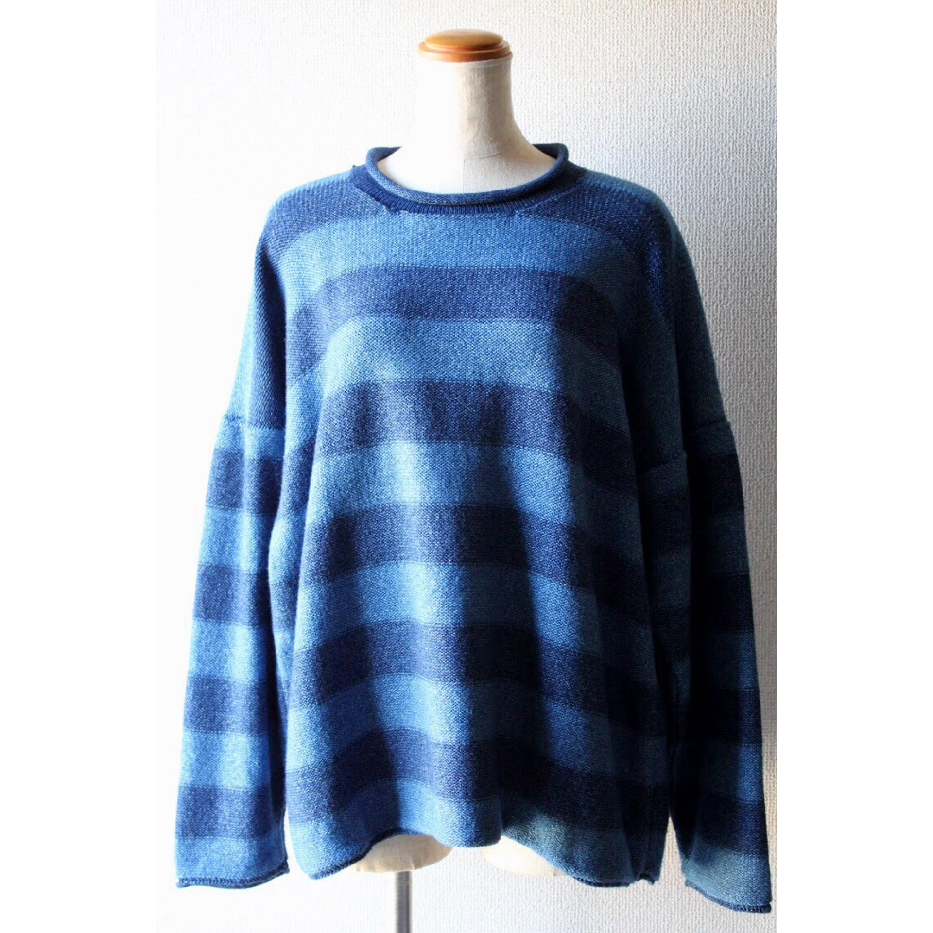 Vintage indigo border sweater