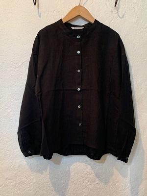 nachukara/ギャザーシャツ ブラック