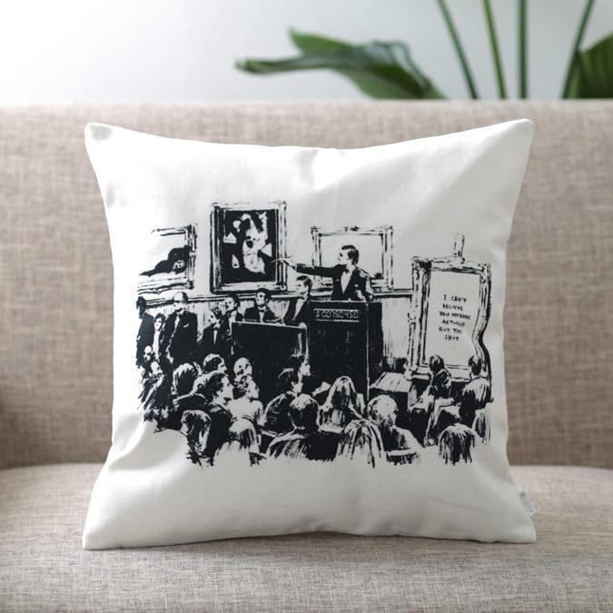 バンクシー Banksy クッションカバー AUCTIONS