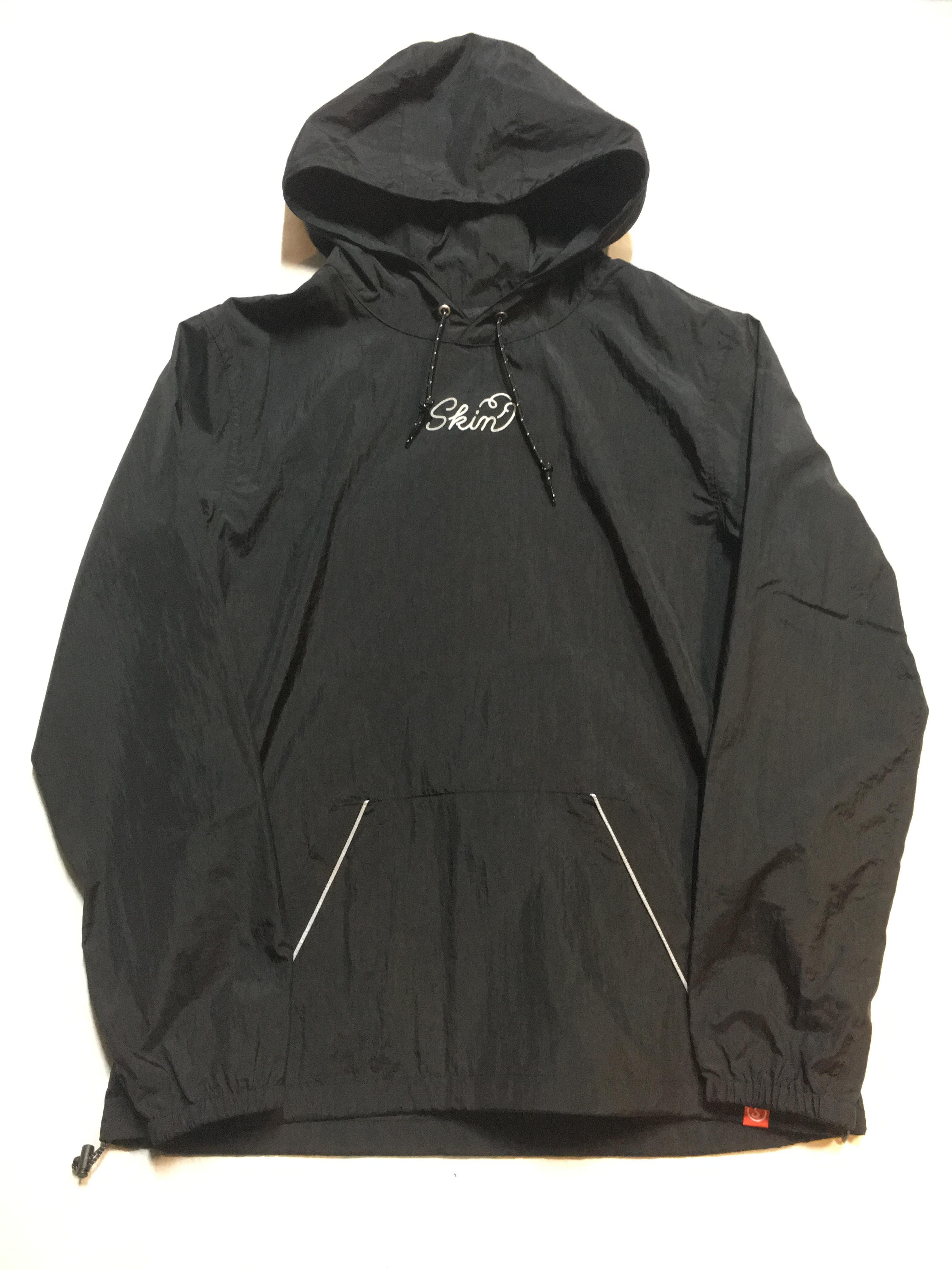 SKIN / nylon hoodie(blk) - 画像1