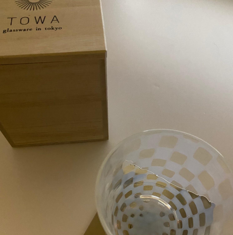 TOWA タンブラー 廣田硝子 大正浪漫( 市松 )(十草)
