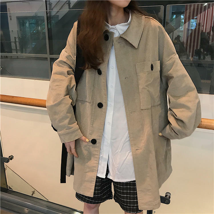 【送料無料】 ゆるジャケット♡ カジュアル ビッグシルエット レトロ ジャケット オーバーサイズ ボーイフレンド