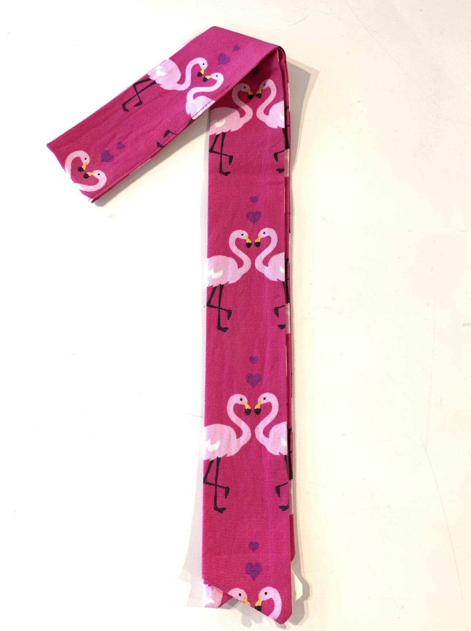 スカーフチャーム フラミンゴ ピンク