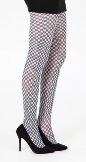 英国PAMELA MANN Checkerboard Printed Tights