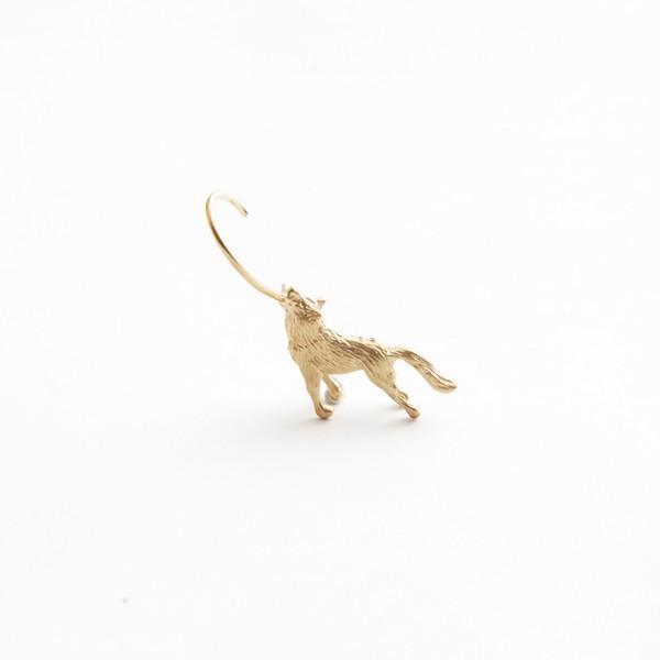simmon/Wolf Body Hook Pierce_Gold_Left(片耳)