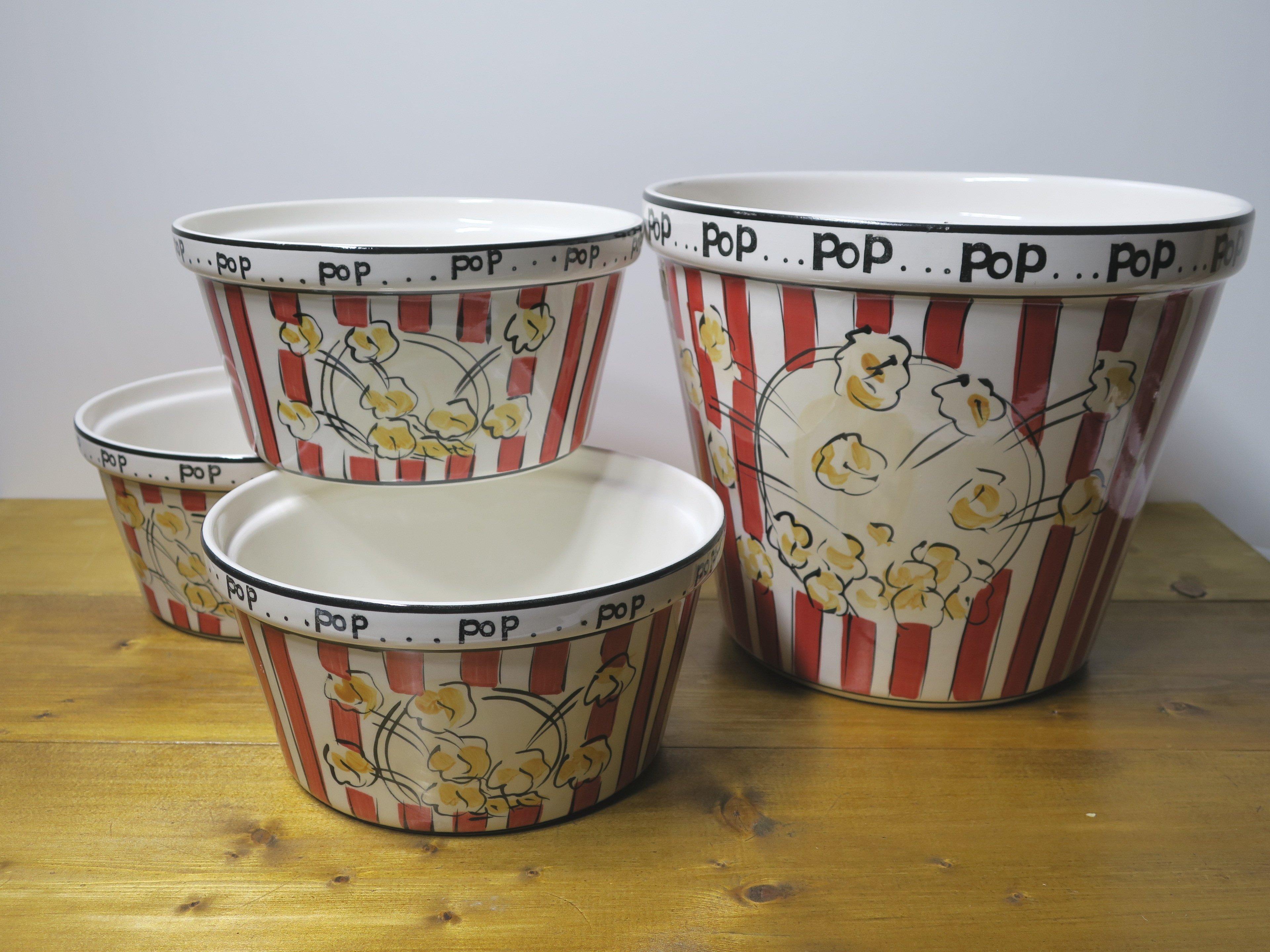 popcorn bowl ポップコーンボウル 4点セット