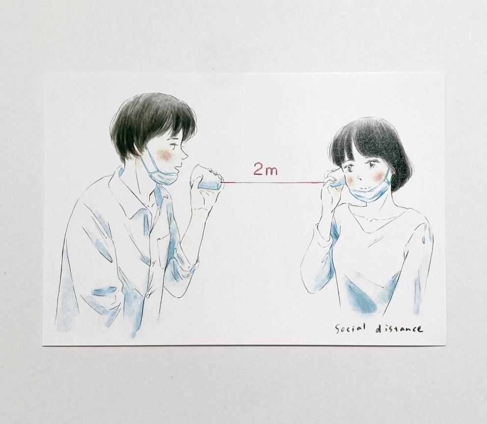〔新宿オンライン〕岡藤真依 / ポストカード