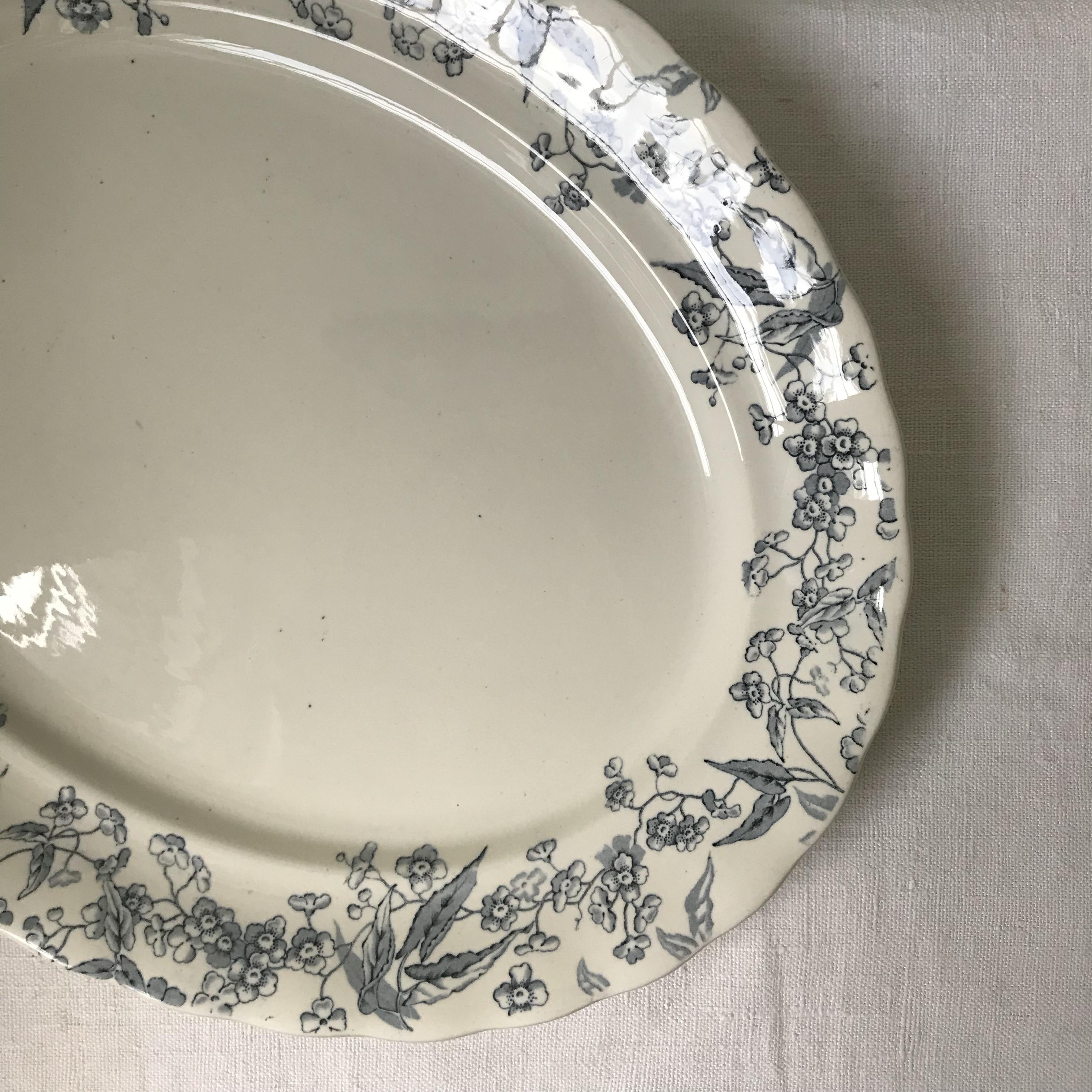 小花柄の大皿