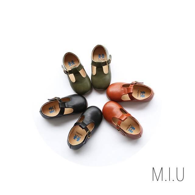 レザーフラットシューズ #MIU601