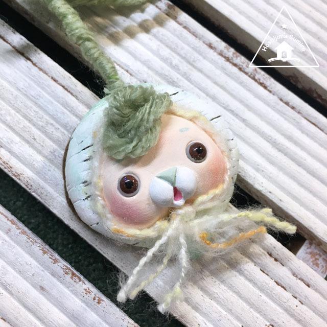 お野菜ちゃんブローチ(かぶちゃん)