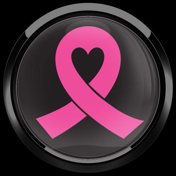ゴーバッジ(ドーム)(CD0554 - PINK RIBBON 02 (BREAST CANCER)) - 画像2