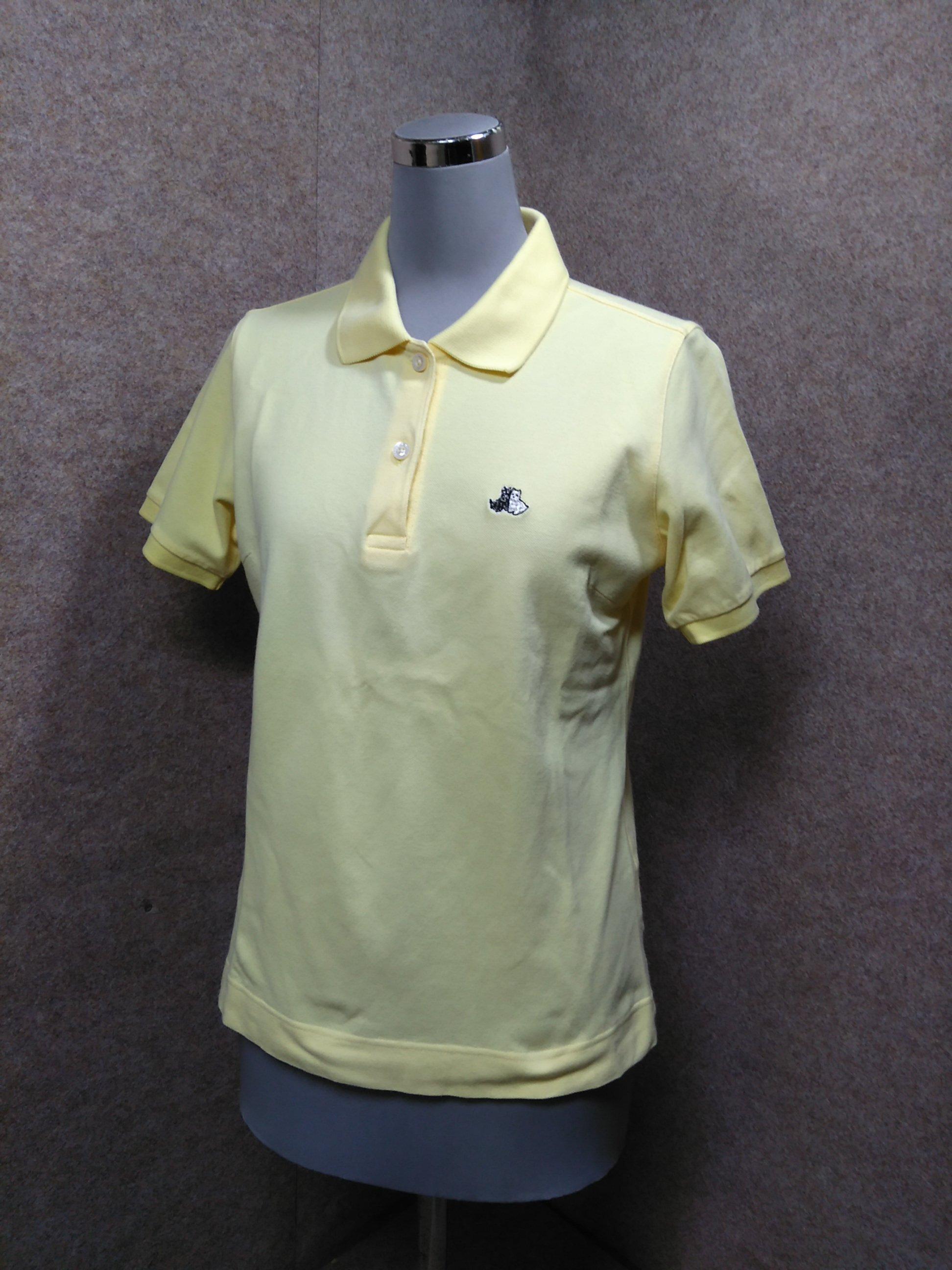 ブラック&ホワイト ゴルフ ポロシャツ 1 イエロー mu788e